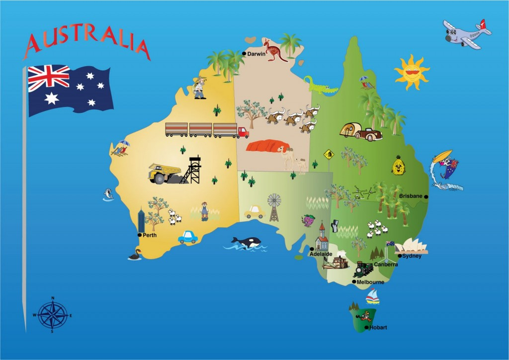 Map of Australia (courtesy of Michelle's Creative Blog: http://kindofcreative.blogspot.com)
