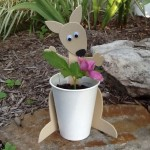 Australia Craft (Week 3) Kangaroo Flower Pot