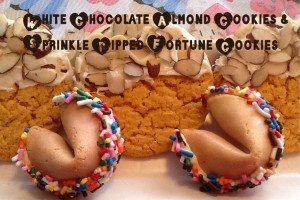 White Chocolate Almond & Sprinkled Fortune Cookies