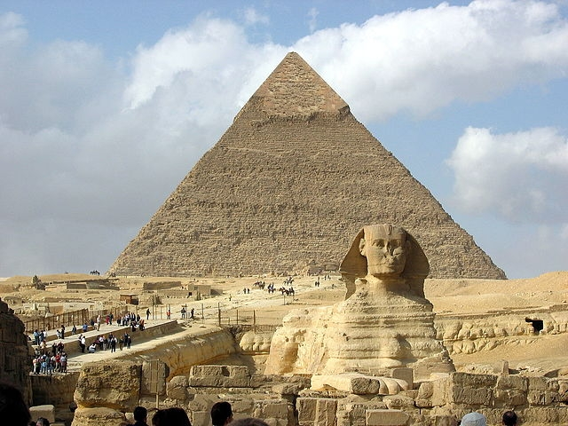 The Great Sphinx and Pyramids of Giza