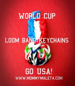 World Cup Loom Band Keychains Go U.S.A!