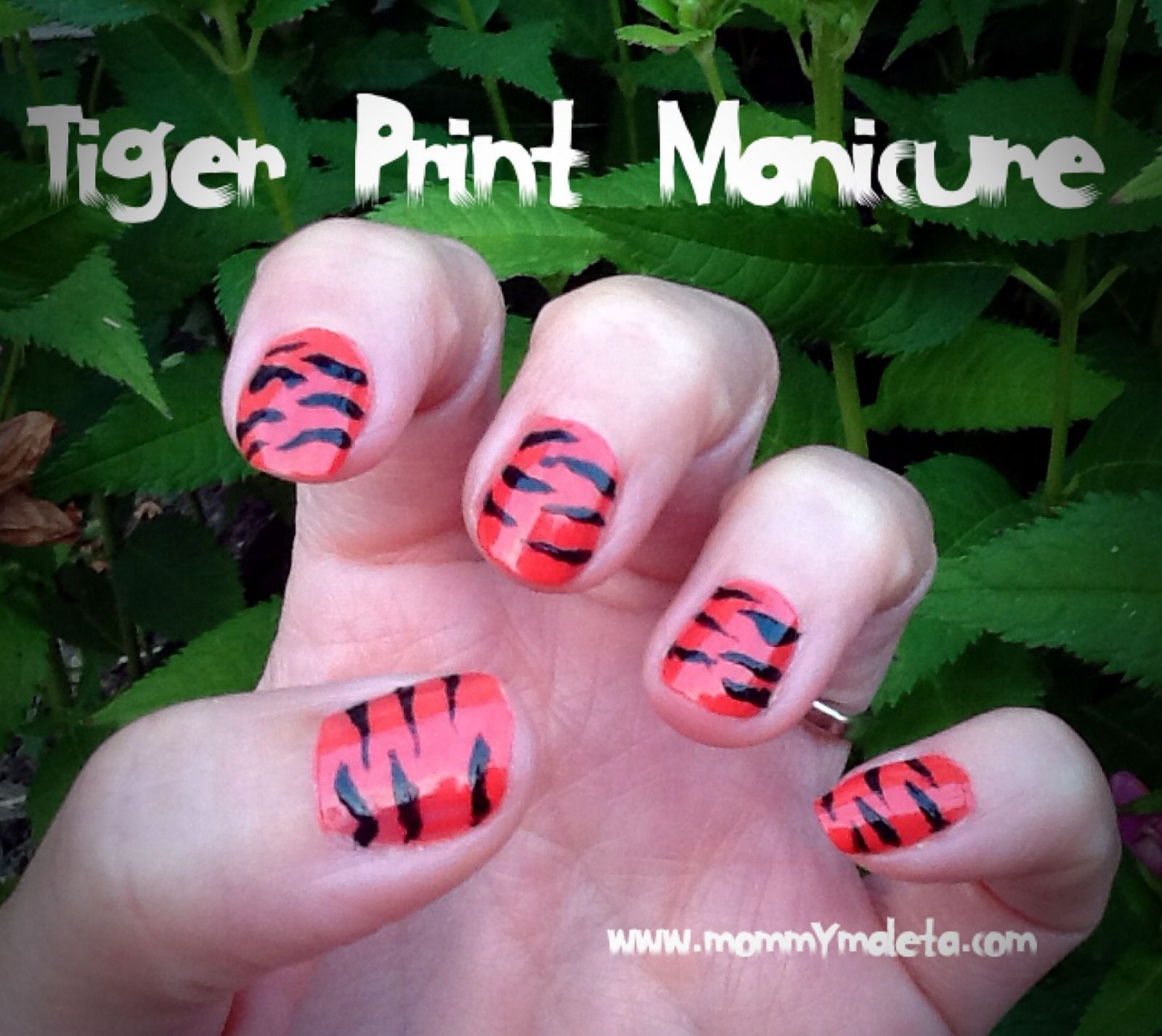 India Craft Tiger Print Manicure and Handprints