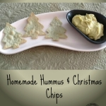 Homemade Hummus & Christmas Chips