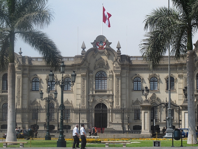 Casa de Gobierno (Government House) in Lima, Peru