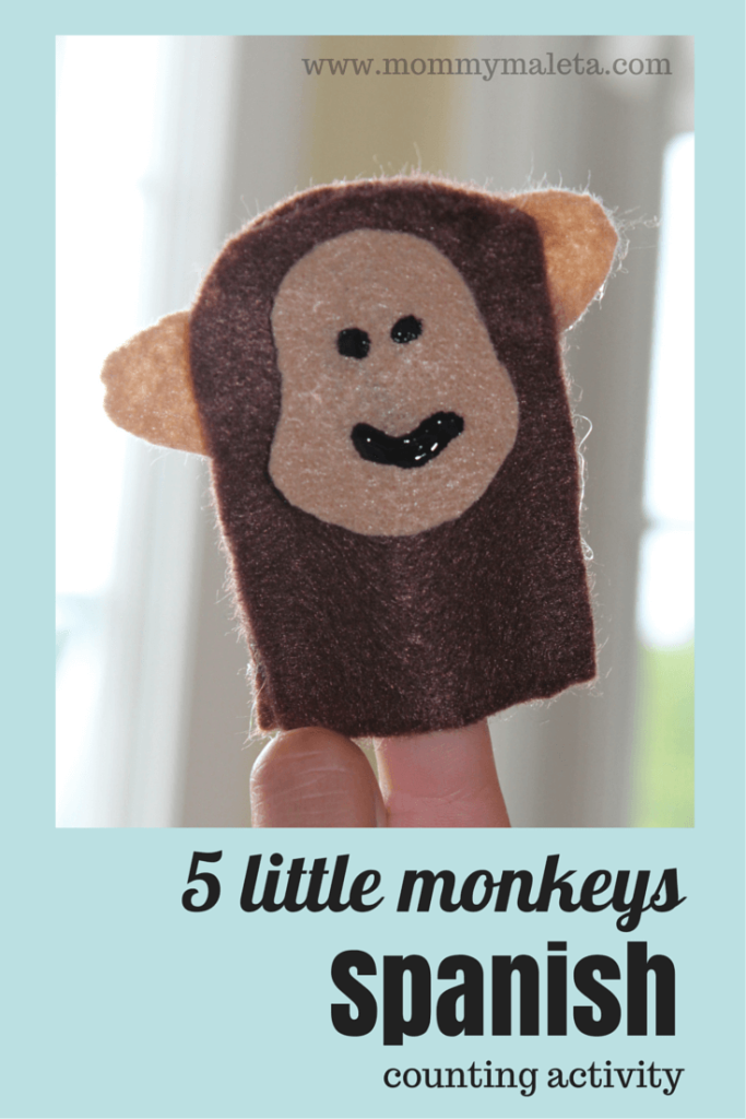 Five Little Monkeys Spanish Counting Activity