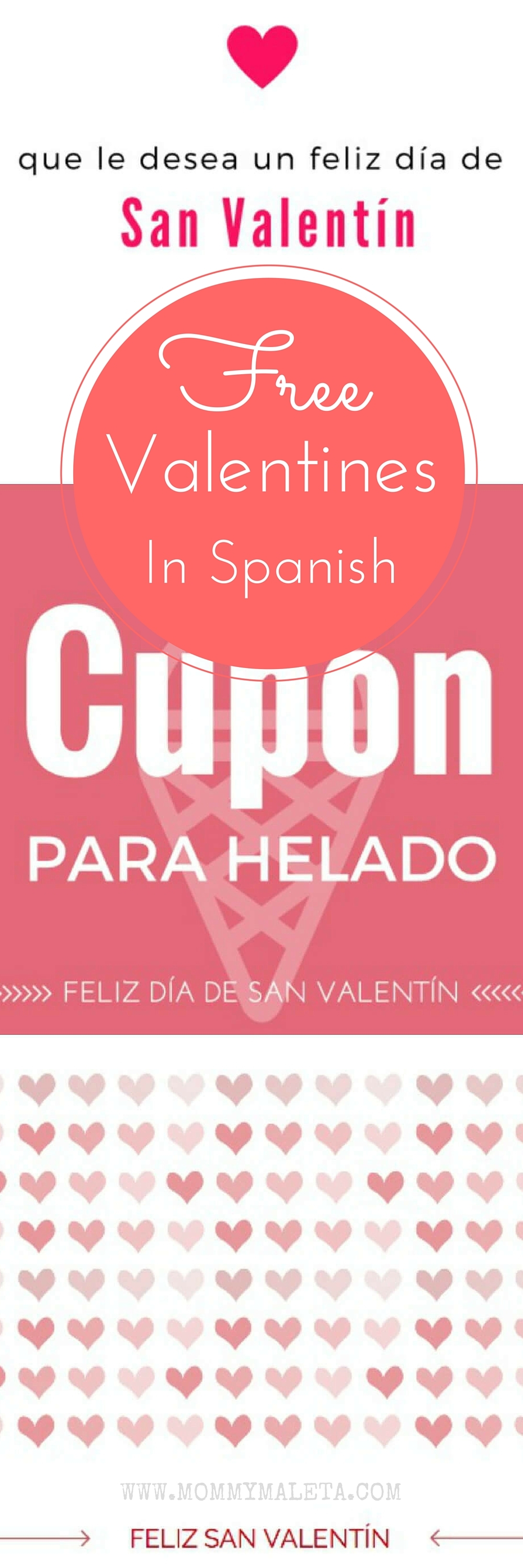 Free Valentine Card Printables in Spanish MommyMaleta – Send Valentines Card Free