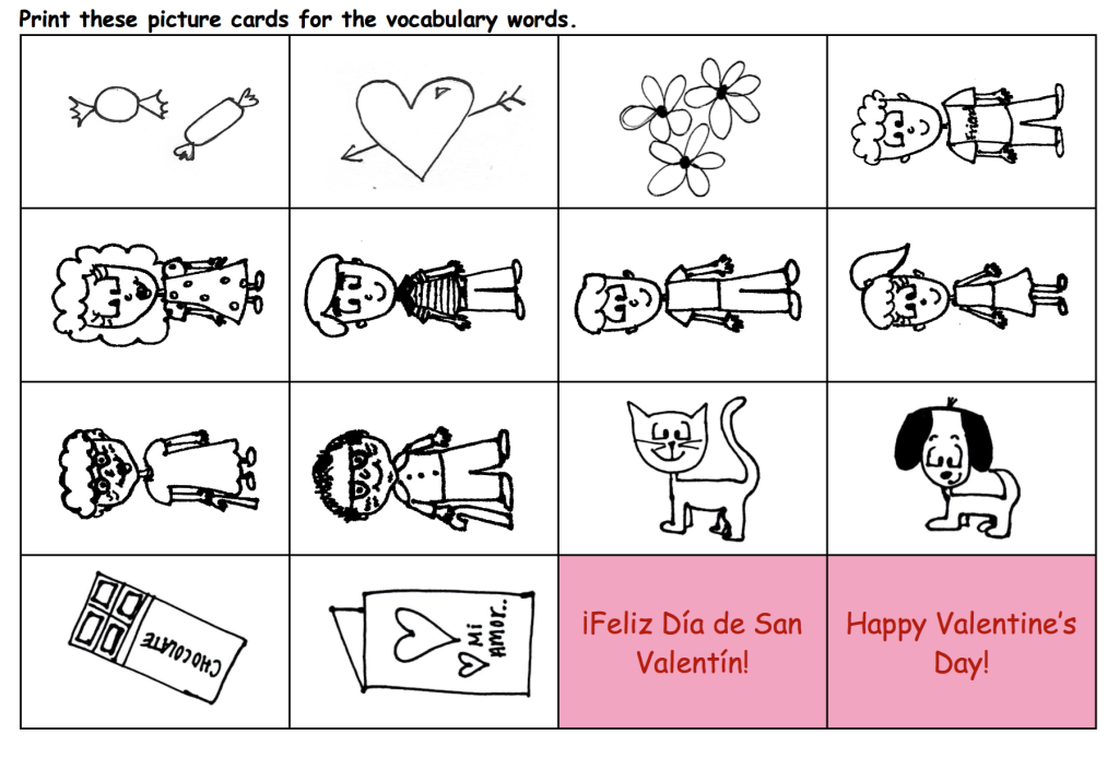 valentine coloring pages spanish - photo #13