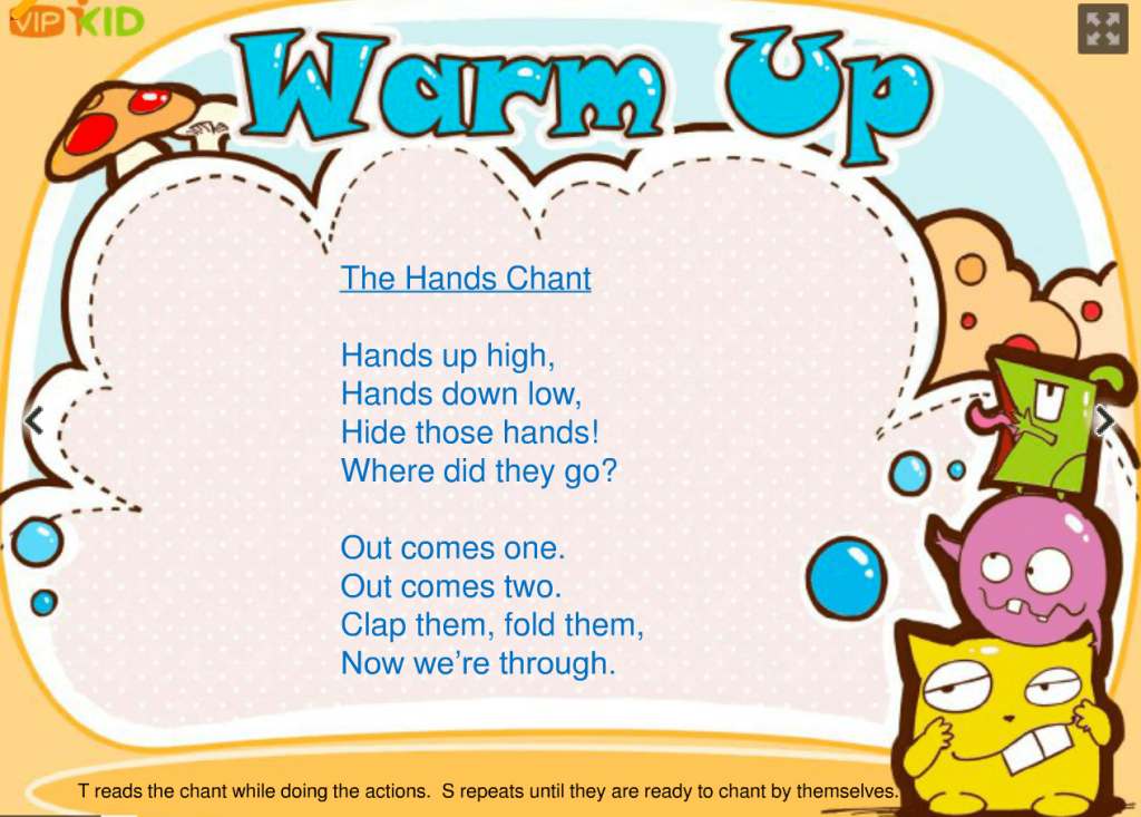 Example of a VIPKID teaching slide