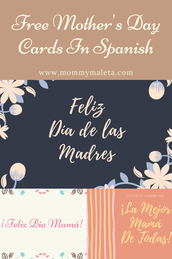 Free Printable Mother's Day Cards In Spanish - MommyMaleta